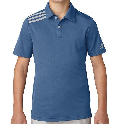 adidas Junior's 3-Stripes Polo
