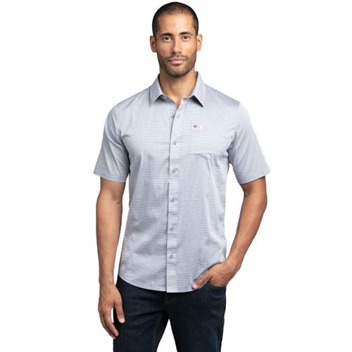 Travis Mathew Men's White Buffalo Button Down