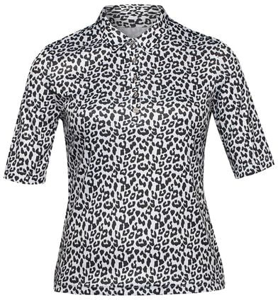 Nivo Women's Elbow Length Leopard Print Polo