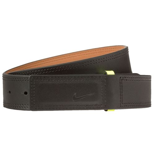 Nike Men's Sleek Modern Covered Plaque Belt