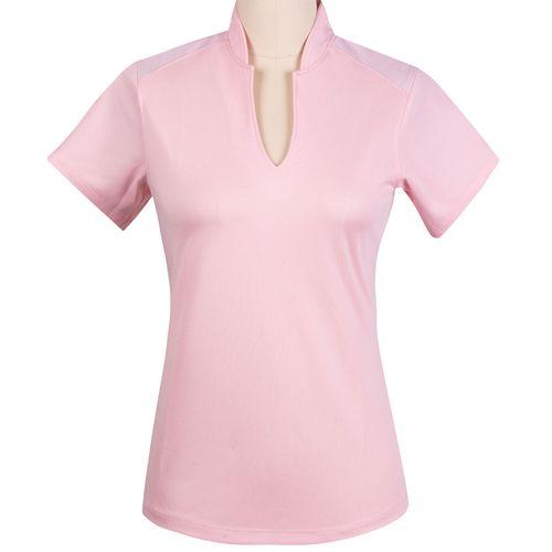 Fringe Women's Cora Mesh Trimmed Short Sleeve Top