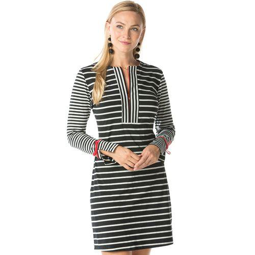 Ibkul Women's Invisible Zip Long Sleeve Dress