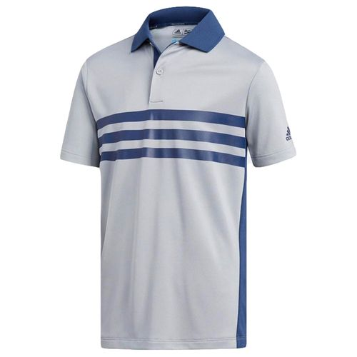adidas Juniors' 3-Stripes Chest Print Polo