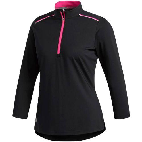 adidas Women's Climacool 1/2 Zip Mock Polo