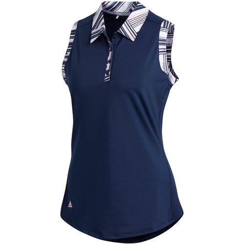 adidas Women's Ultimate365 Printed Sleeveless Polo