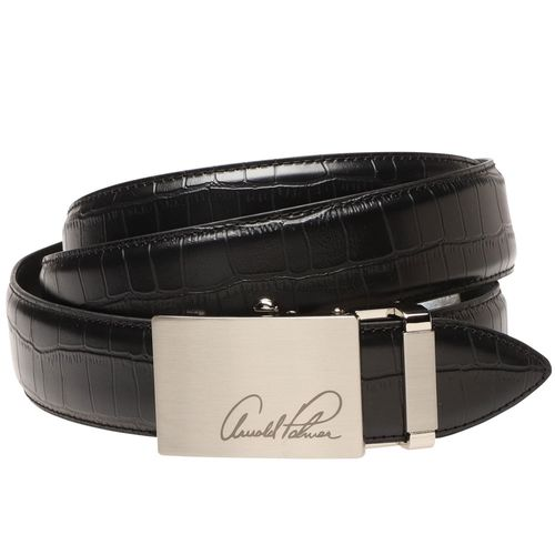 Arnold Palmer Men's Croco Feather Edge Belt
