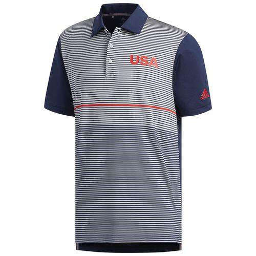 adidas Men's USA Ultimate Color Block Golf Polo
