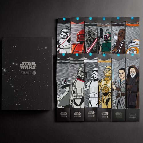 "Stance Men's Star Wars ""The Force 3"" Socks - 12 Pack Collection Box"