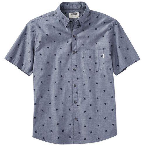 Linksoul Men's Palm Print Woven Button Down Shirt