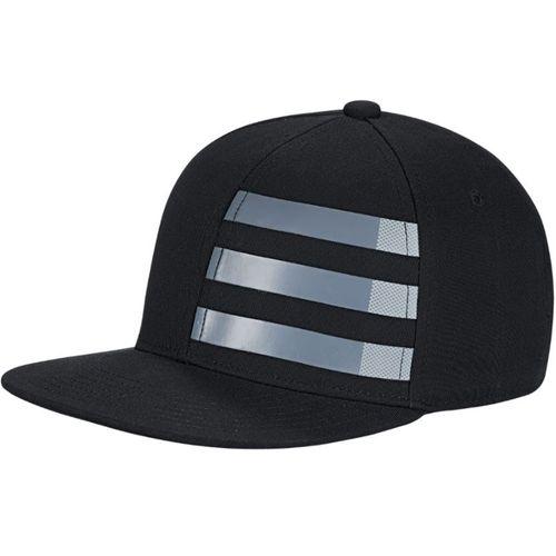 adidas Juniors' Flat Bill Three Stripes Hat