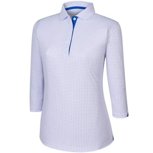 FootJoy Women's 3/4 Sleeve Dot Pattern Polo