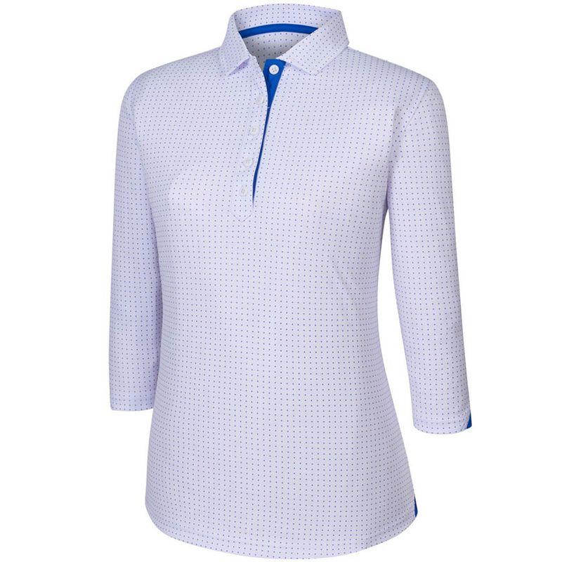 FootJoy-Women-s-3-4-Sleeve-Dot-Pattern-Polo-2036351