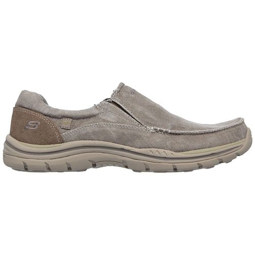 Skechers Men's Moc Toe Canvas Slip-On Shoes