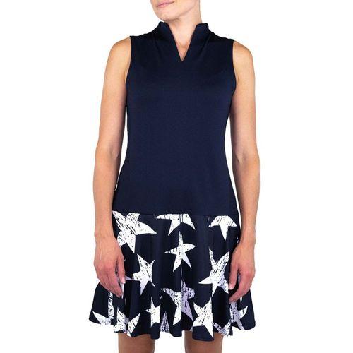 JoFit Women's Drop Waist Star Print Dress