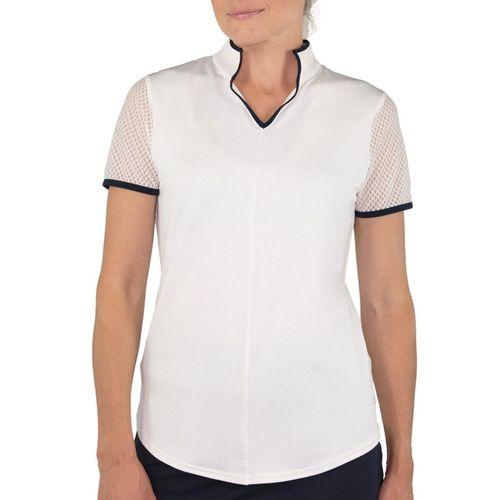 JoFit Women's Mesh Sleeve Mock