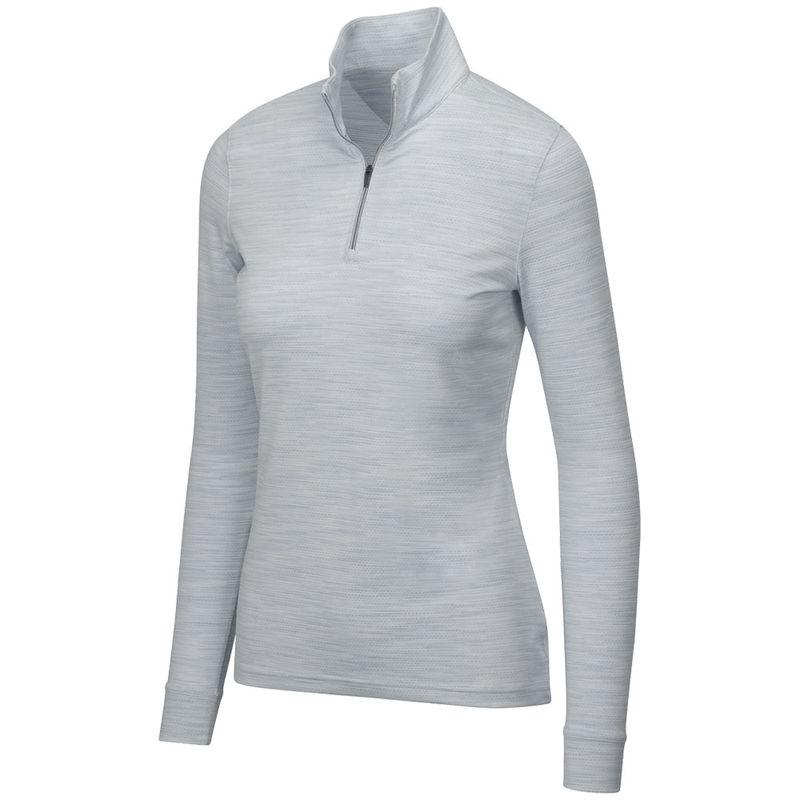 Greg-Norman-Women-s-Heathered-Mesh-1-4-Zip-Stretch-Long-Sleeve-Mock-2136834