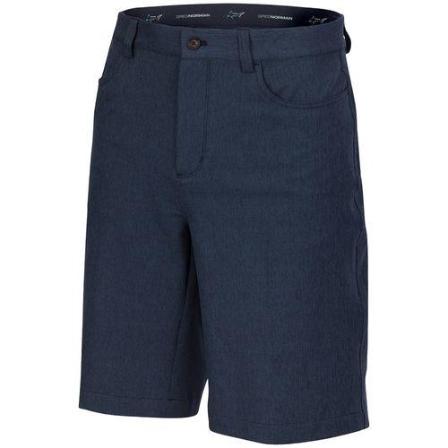 Greg Norman Men's ML75 Microlux Heathered 5 Pocket Hybrud Short