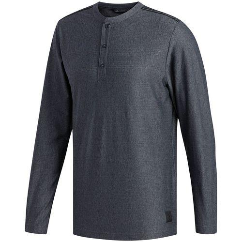 adidas Men's Adicross Transition Henley Long Sleeve Shirt