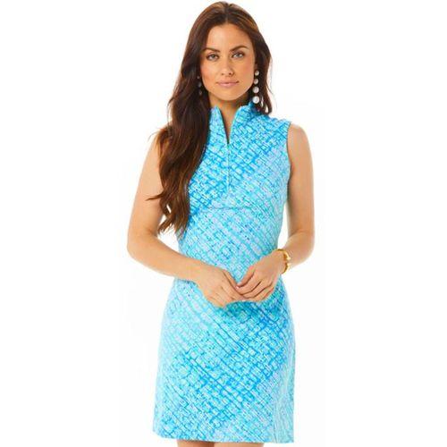 Ibkul Women's Liz Print Sleeveless Mock Dress