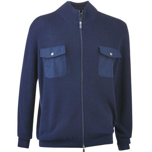 Bobby Jones Men's Wool Silk Chest Pocket Full Zip Jacket