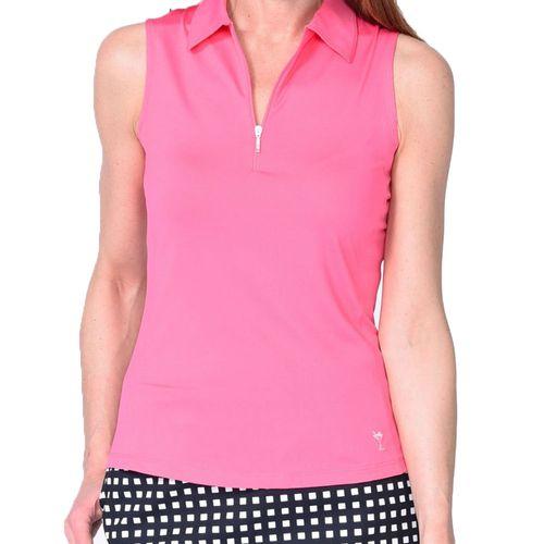 Golftini Women's Zip Tech Sleeveless Polo