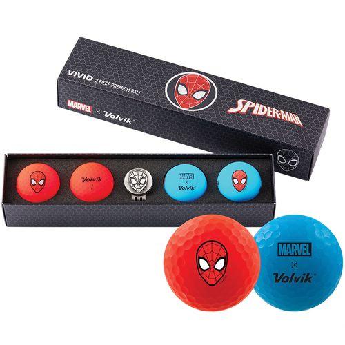 Volvik Vivid Marvel Spider-Man Edition Golf Balls - 4 Pack