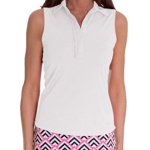 Golftini Women's Ruffle Tech Sleeveless Polo