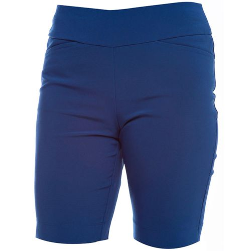 Ibkul Women's Stain Resistant UPF 50 Solid Shorts