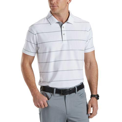Bobby Jones Men's Rule 18 Tech Jersey Pin Stripe Polo