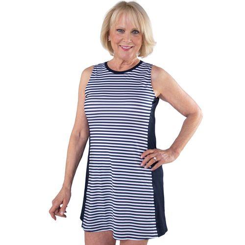 JoFit Women's Stripe Swing Sleeveless Dress