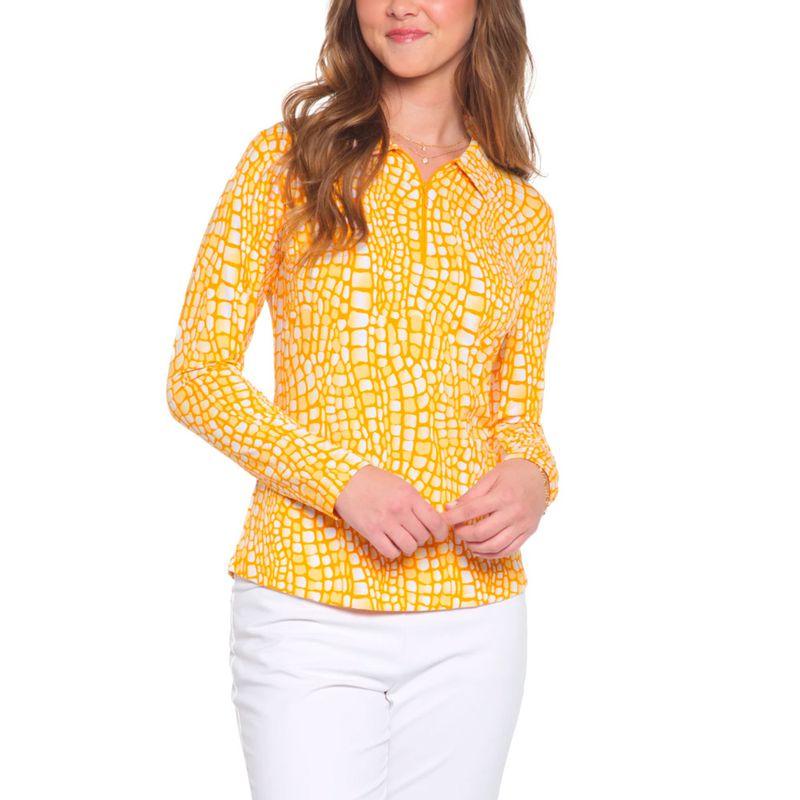 Ibkul-Women-s-Carie-Print-Long-Sleeve-Polo-2157972--hero