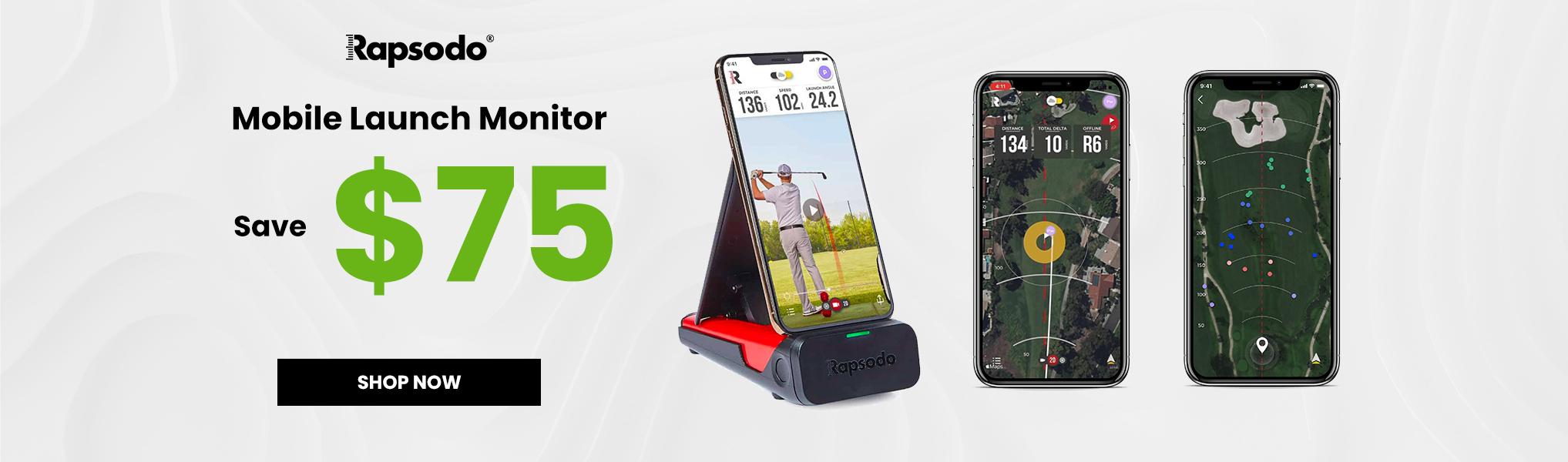 Rapsodo $75 off mobile launcher monitor